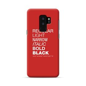 Helvetica Font Family Samsung Galaxy S9 Plus Case