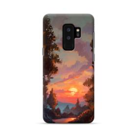 Sunset And Forest Landscape Oil Painting  Samsung Galaxy S9 Plus Case