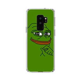 Smug Pepe Frog Funny Meme Samsung Galaxy S9 Plus Clear Case