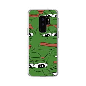 Sad Pepe frog seamless Samsung Galaxy S9 Plus Clear Case