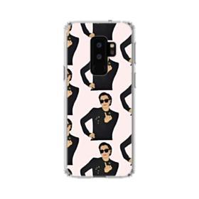 Kris Jenner middle finger meme Samsung Galaxy S9 Plus Clear Case