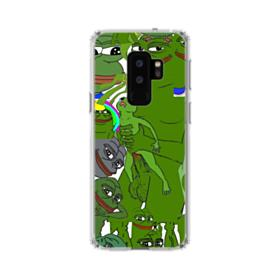 Rare pepe the frog seamless Samsung Galaxy S9 Plus Clear Case