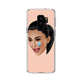 Crying Kim emoji kimoji Samsung Galaxy S9 Plus Clear Case