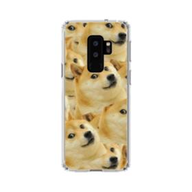 Doge meme seamless Samsung Galaxy S9 Plus Clear Case
