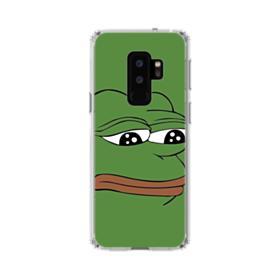 Sad Pepe frog Samsung Galaxy S9 Plus Clear Case