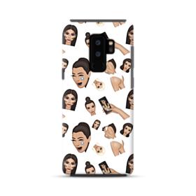 Kim Kardashian Emoji Kimoji seamless Samsung Galaxy S9 Plus Hybrid Case