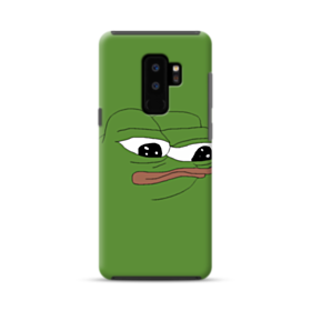 Sad Pepe frog Samsung Galaxy S9 Plus Hybrid Case