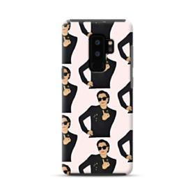 Kris Jenner middle finger meme Samsung Galaxy S9 Plus Hybrid Case