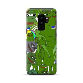 Rare pepe the frog seamless Samsung Galaxy S9 Plus Hybrid Case