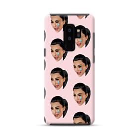 Crying Kim emoji kimoji seamless Samsung Galaxy S9 Plus Hybrid Case