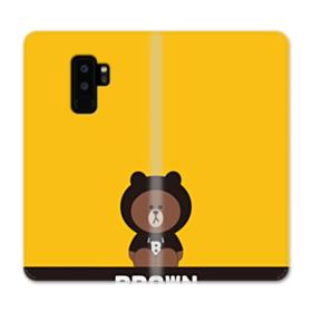 Line Friends Brown Give You Luck Samsung Galaxy S9 Plus Wallet Case