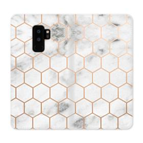 Honeycomb Marble Samsung Galaxy S9 Plus Wallet Case