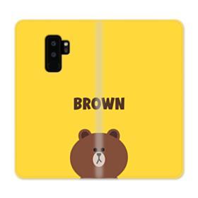 Line Friends Brown Samsung Galaxy S9 Plus Wallet Case