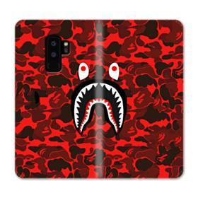 Bape Logo Red Camo Samsung Galaxy S9 Plus Wallet Case