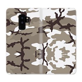 Camouflage Brown Samsung Galaxy S9 Plus Wallet Case
