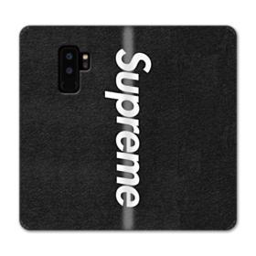Supreme Logo Black Samsung Galaxy S9 Plus Wallet Case