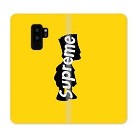 Supreme Bart Simpson Clip Samsung Galaxy S9 Plus Wallet Case