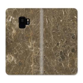 Dark Coffee Emperador Marble Samsung Galaxy S9 Wallet Case