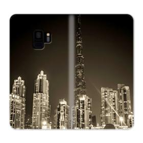City night skyline Samsung Galaxy S9 Wallet Case