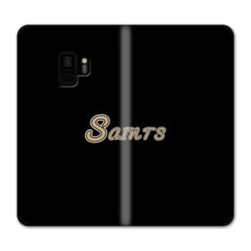 Saints Logo Black Samsung Galaxy S9 Wallet Case