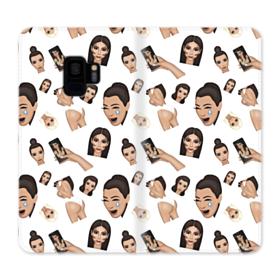 Kim Kardashian Emoji Kimoji seamless Samsung Galaxy S9 Wallet Case