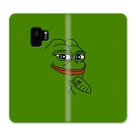 Smug Pepe Frog Funny Meme Samsung Galaxy S9 Wallet Case