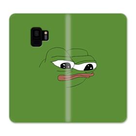 Sad Pepe frog Samsung Galaxy S9 Wallet Case