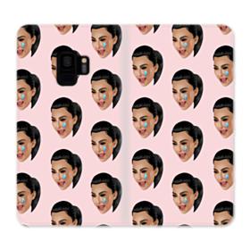 Crying Kim emoji kimoji seamless Samsung Galaxy S9 Wallet Case