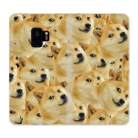Doge meme seamless Samsung Galaxy S9 Wallet Case