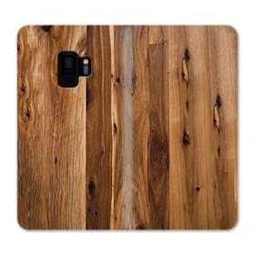 Antique Flooring Hickory Wood Samsung Galaxy S9 Wallet Case