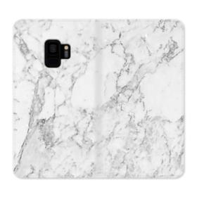 White Marble Samsung Galaxy S9 Wallet Case