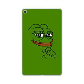 Smug Pepe Frog Funny Meme Samsung Galaxy Tab A 10.1 (2019) Clear Case