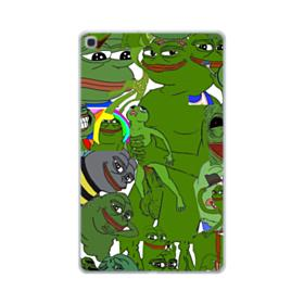 Rare pepe the frog seamless Samsung Galaxy Tab A 10.1 (2019) Clear Case
