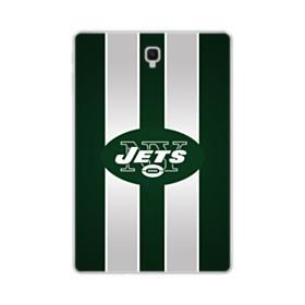 New York Jets Team Logo Vertical Stripes Samsung Galaxy Tab S4 10.5 Clear Case