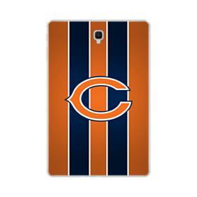Chicago Bears Vertical Orange Stripes Samsung Galaxy Tab S4 10.5 Clear Case