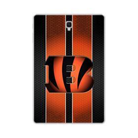Cincinnati Bengals Stripes Mesh Samsung Galaxy Tab S4 10.5 Clear Case