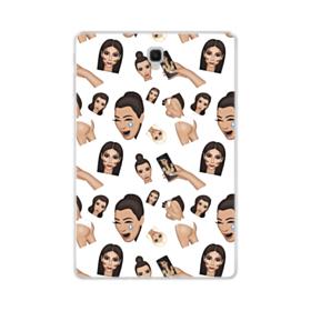 Kim Kardashian Emoji Kimoji seamless Samsung Galaxy Tab S4 10.5 Clear Case