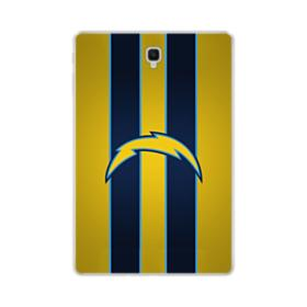 Los Angeles Chargers Team Logo Vertical Stripes Samsung Galaxy Tab S4 10.5 Clear Case