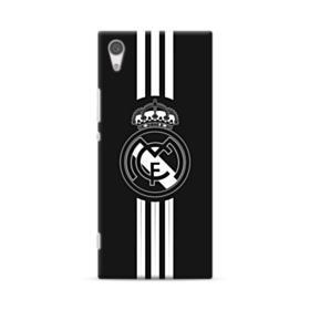 Real Madrid Team Logo Black White Sony Xperia XA1 Case