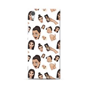 Kim Kardashian Emoji Kimoji seamless Sony Xperia XA1 Case