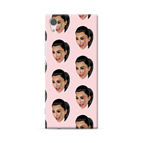 Crying Kim emoji kimoji seamless Sony Xperia XA1 Case