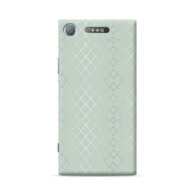 Gold Quatrefoil Pattern in Mint Green Sony Xperia XZ1 Case