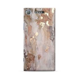 Gold abstract painting Sony Xperia XZ1 Case