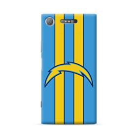 Los Angeles Chargers Logo Vertical Powder Blue Stripes Sony Xperia XZ1 Case