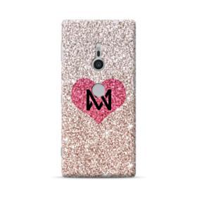 Heart Gold Glitter Sony Xperia XZ2 Case