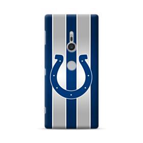 Indianapolis Colts Logo Vertical Silver Stripes Sony Xperia XZ2 Case