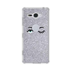 Silver Glitter Eyes Sony Xperia XZ2 Compact Case