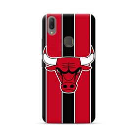 Chicago Bulls Vertical Red Stripes Vivo V9 Case