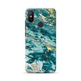 Turquoise and Gold Marble Xiaomi Mi A2 Case