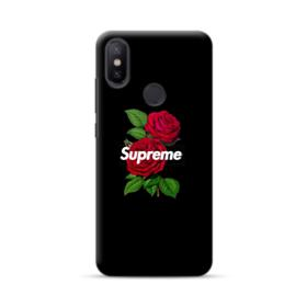 Supreme logo with Red Peony Xiaomi Mi A2 Case